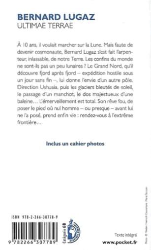 4è de couverture d'ultimae terrae de Bernard Lugaz chez Pocket